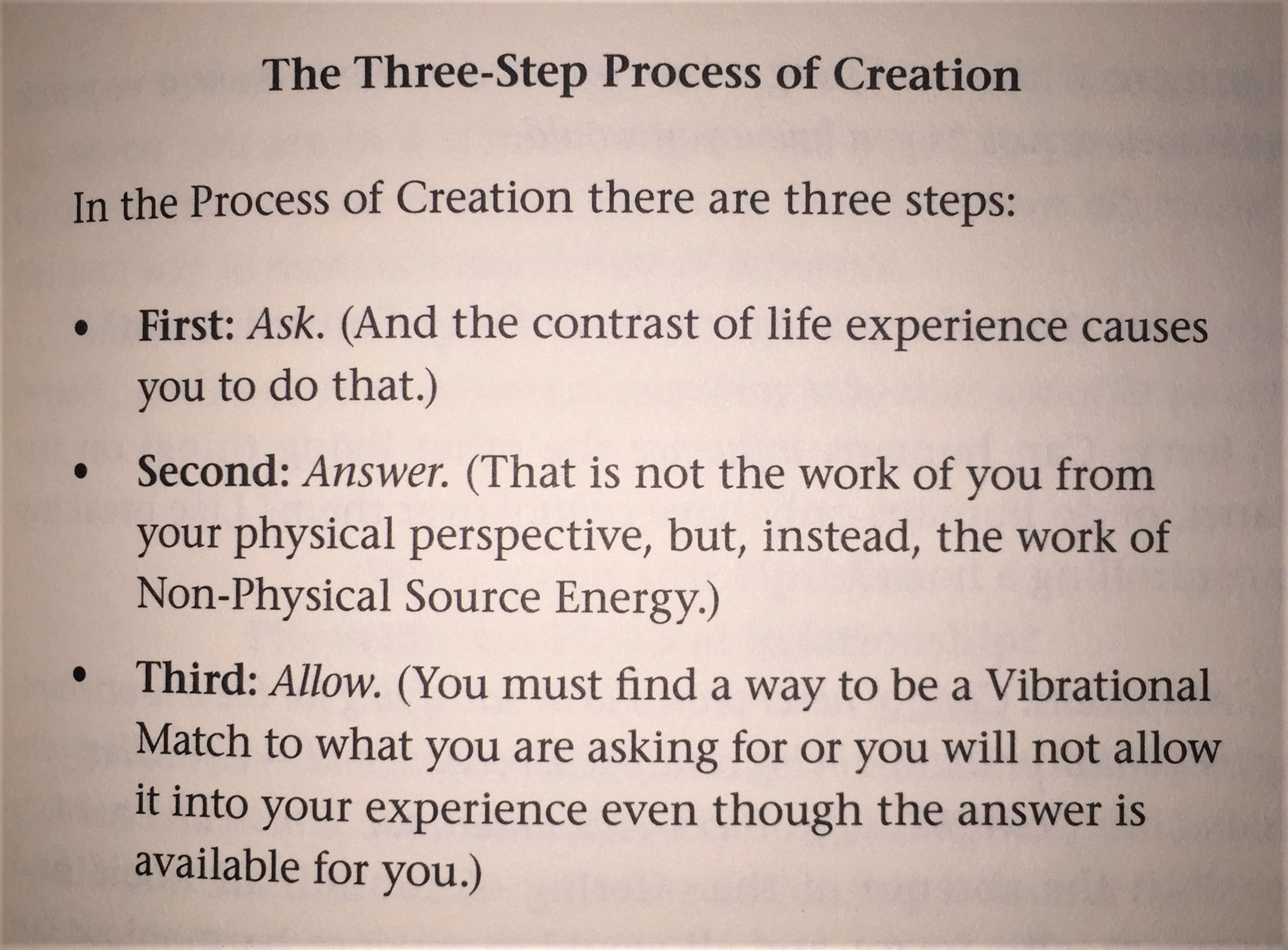 The Three-Step Process of Creation